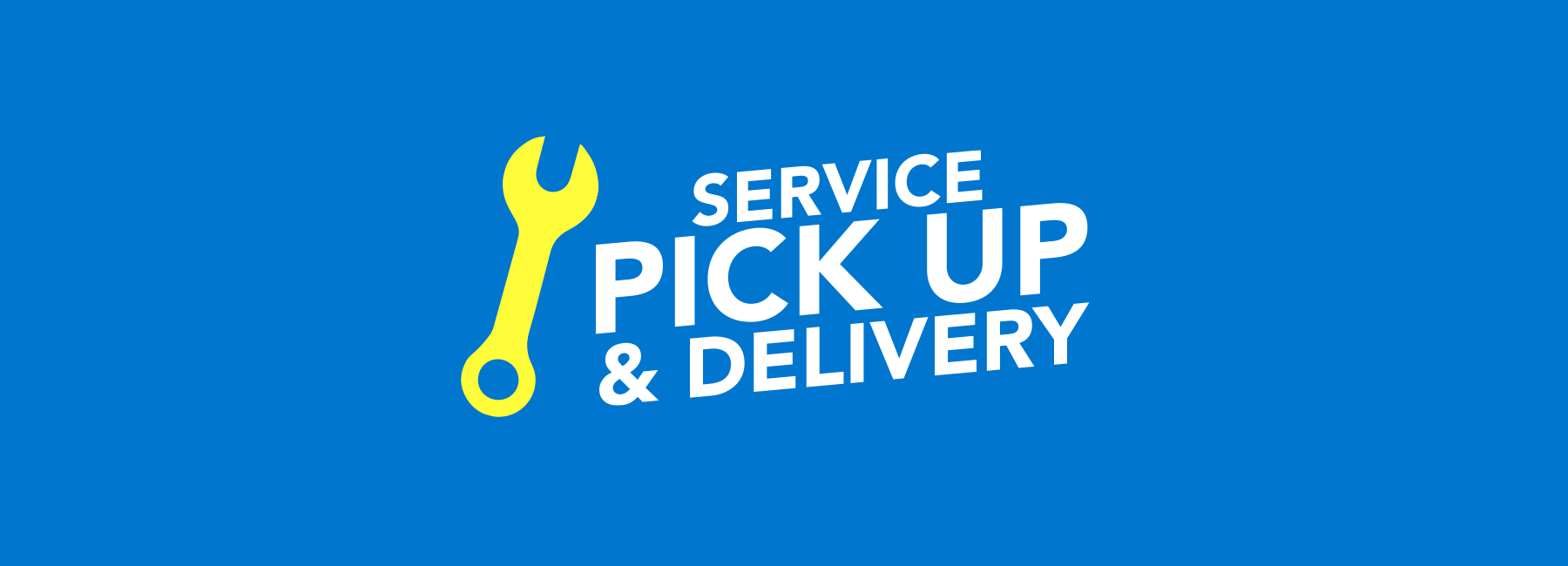 service pickup and delivery banner