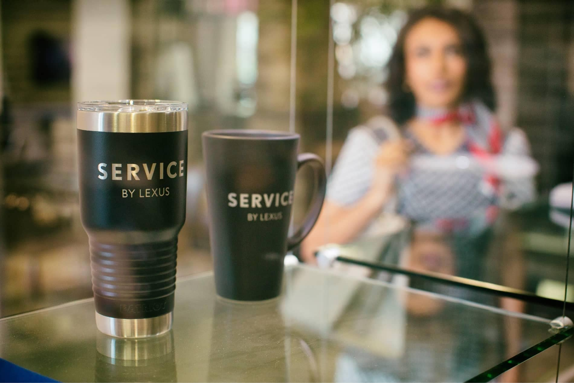 Service by Lexus coffee mug and thermos