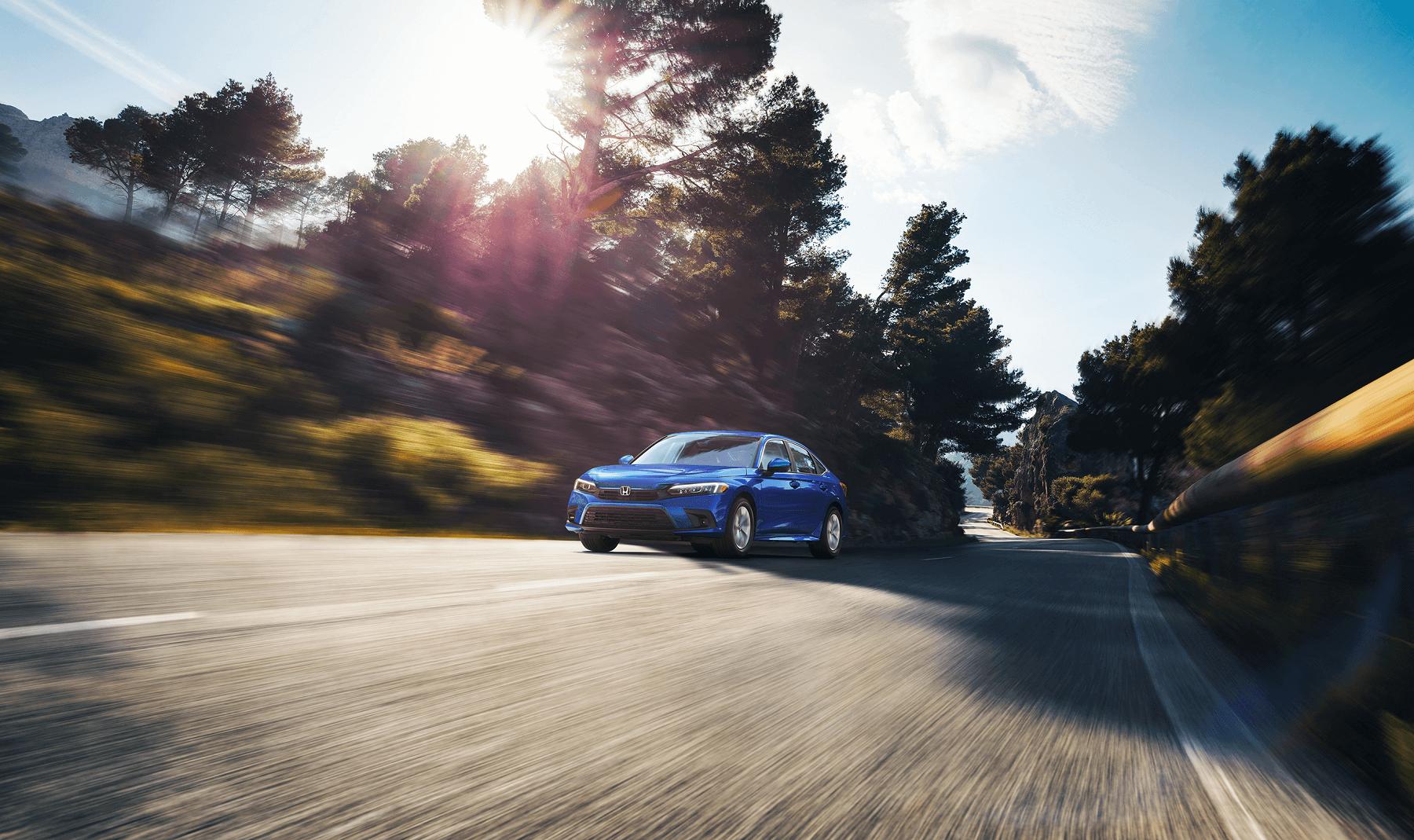 2022 Honda Civic Sedan LX in Blue