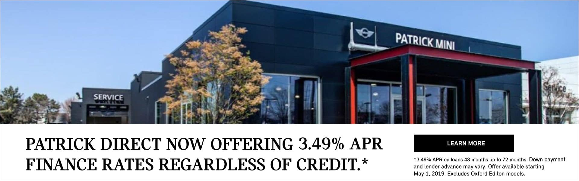 Patrick Direct 3.9% APR Offer