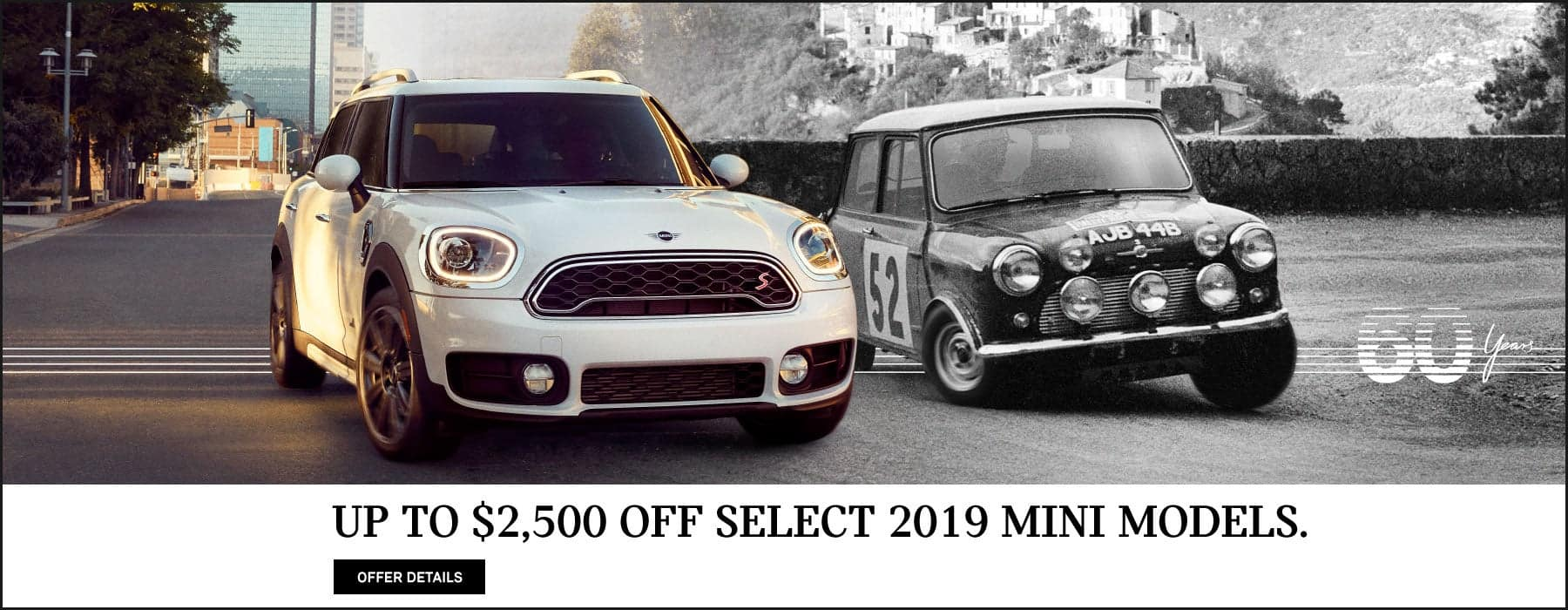 Up to $2,500 Off Select 2019 MINI Models.