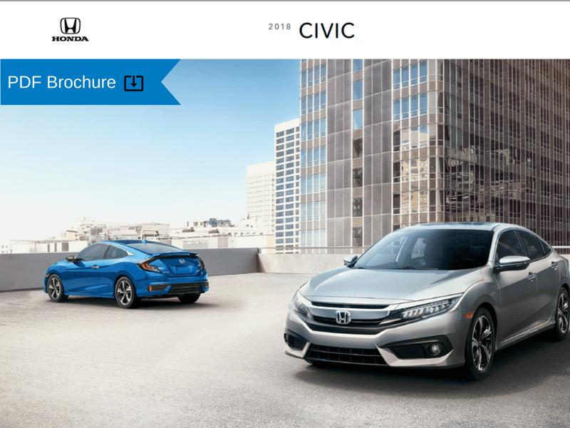 2018 Honda Civic Sedan and Coupe Brochure