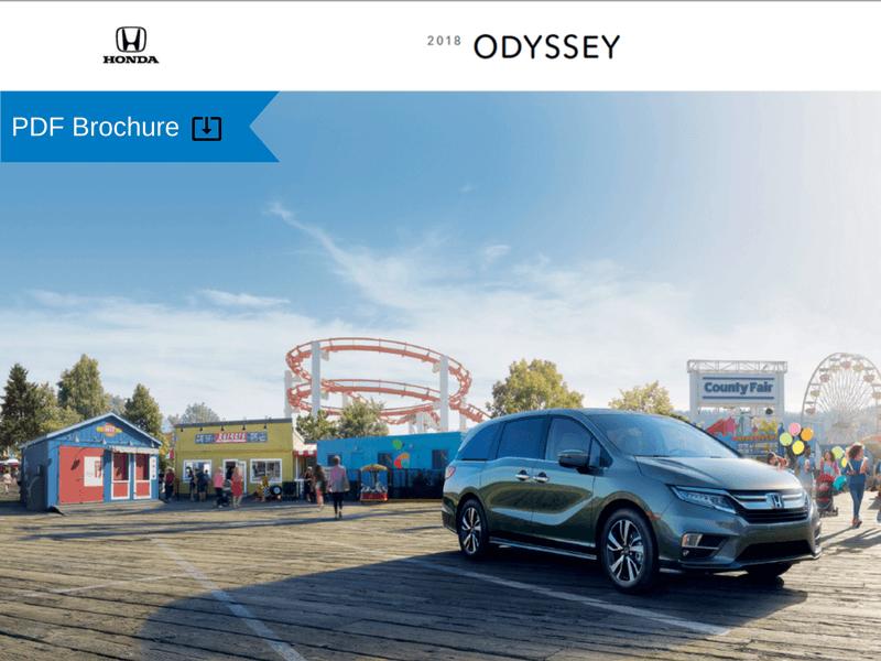 2018 Honda Odyssey Brochure img
