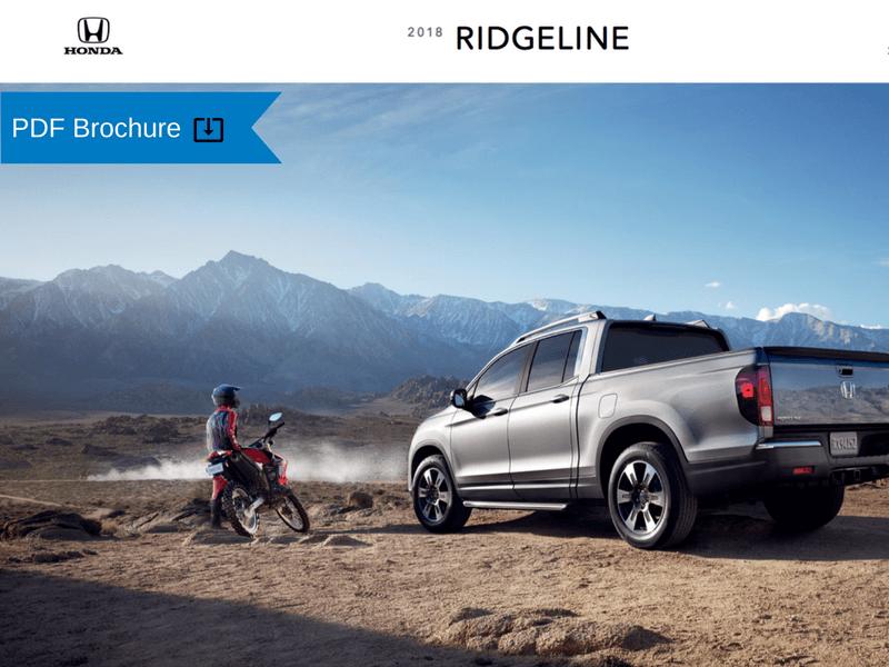2018 Honda Ridgeline Brochure img