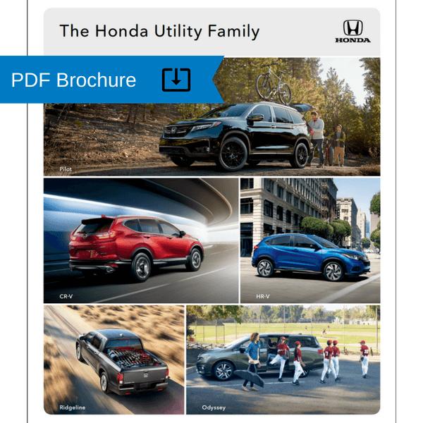 2019 Honda Utility family brochure