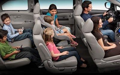 used 2015 Honda Odyssey family interior