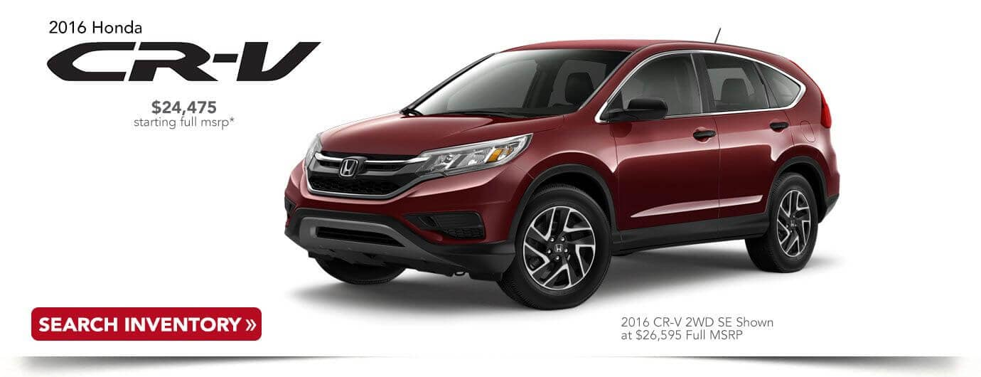 used 2016 Honda CR-V banner