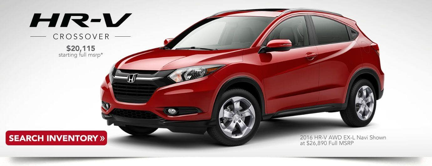 used 2016 Honda HR-V banner