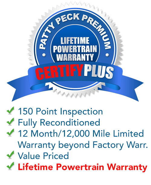 Patty Peck Premium CertifyPlus used car