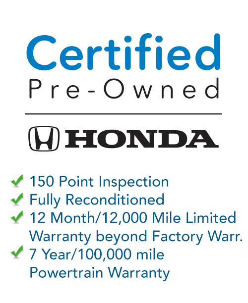 Honda Certified Pre-owned car