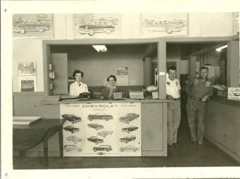 employees behind a counter
