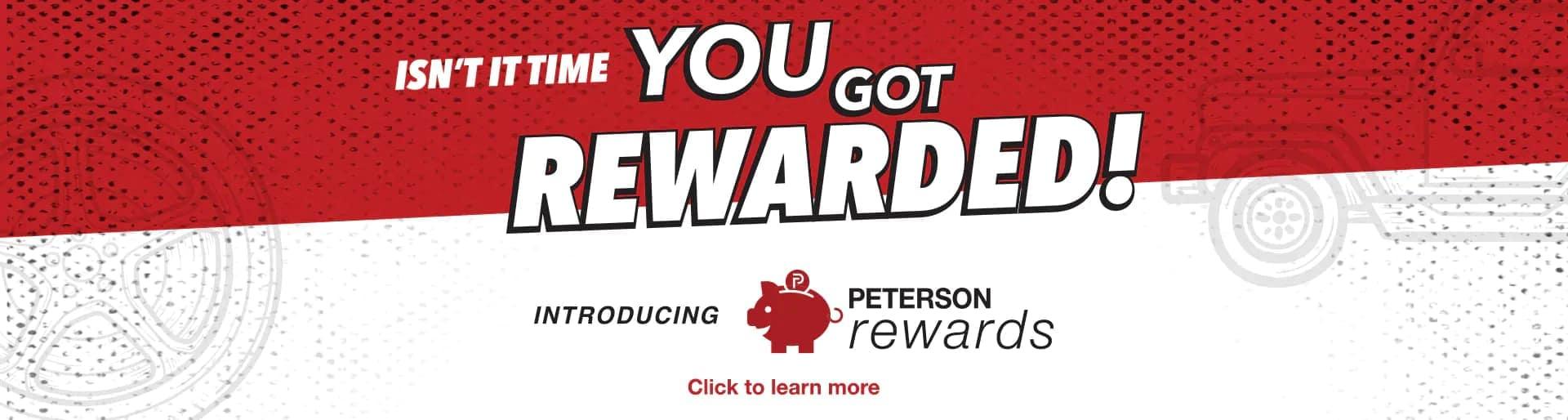 Peterson Rewards Banner