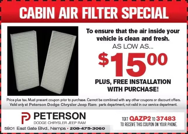 Cabin Ait Filter Special