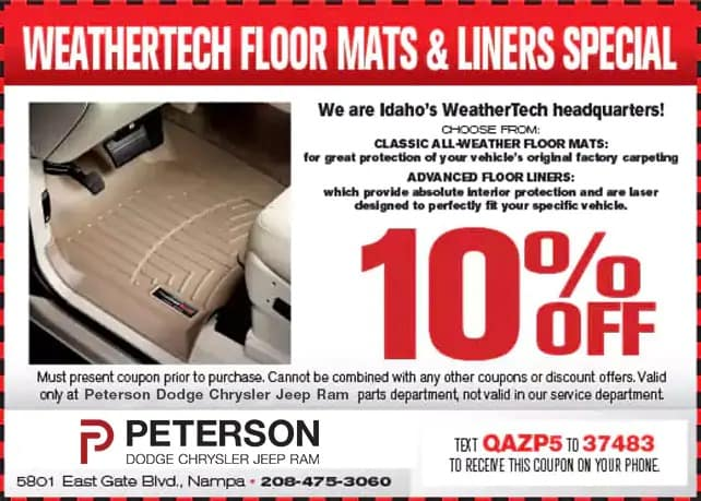 Weathertech Floor Mats and Liners Special