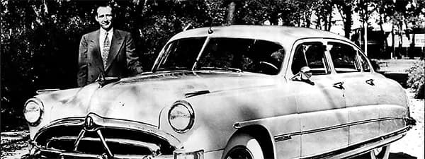 Black and White image of a Car