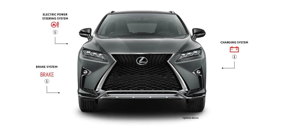 Front View of Lexus