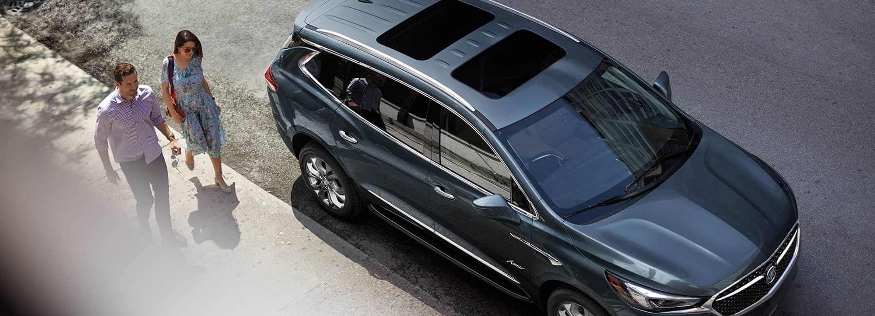 Grey 2020 Buick Enclave from Above