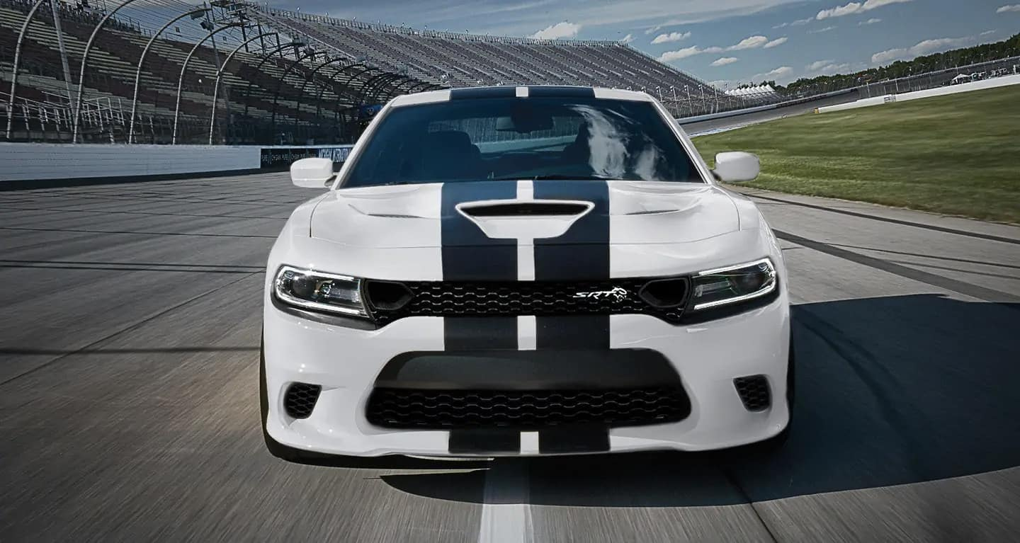 2019 Dodge Charger dual carbon stripes