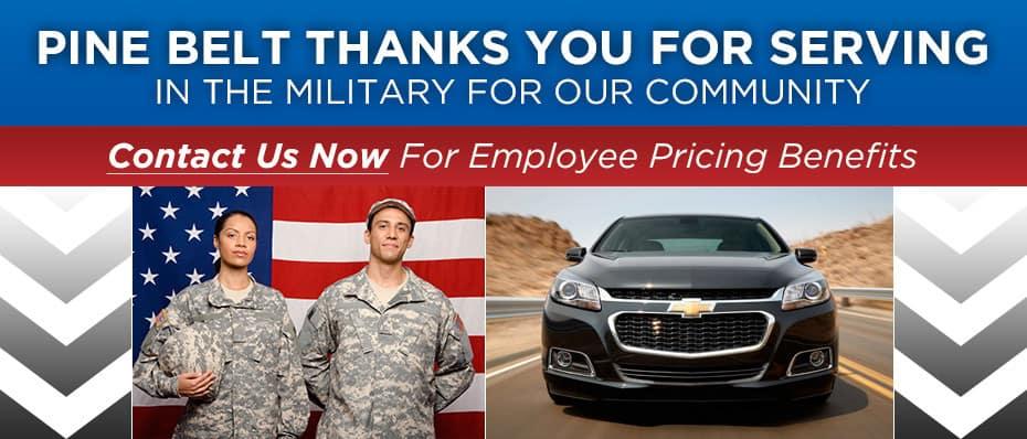 Pine Belt Military Pricing Benefit