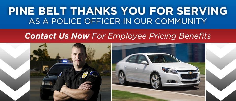 Pine Belt Police Pricing Benefits