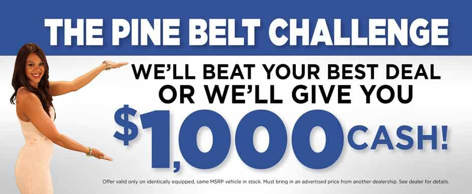 Pine Belt Chevy in Lakewood will beat any dealer price, guaranteed