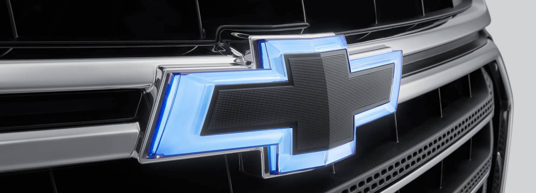 Blue chevy logo on grill