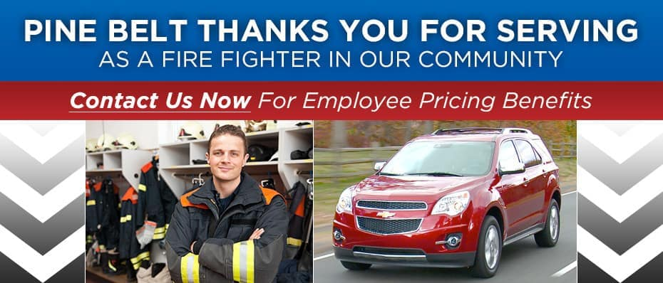 Chevy Discounts for NJ Firefighters