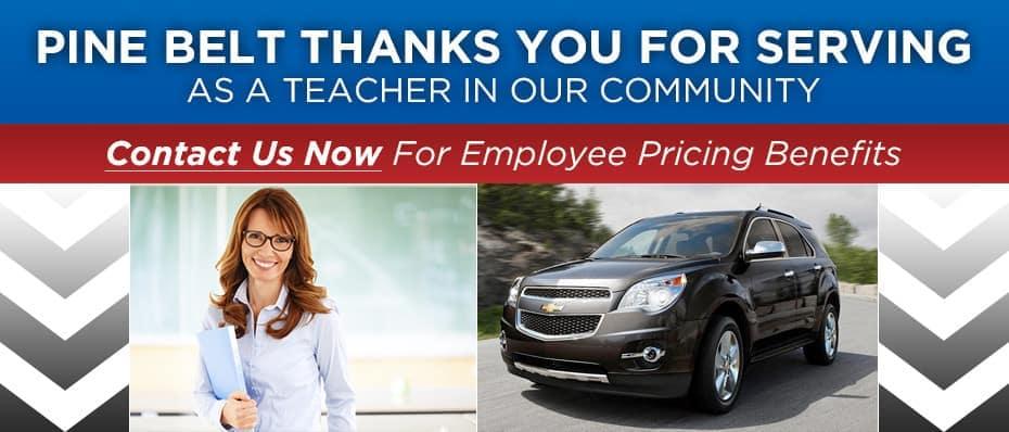 Chevy Discounts for NJ Teachers