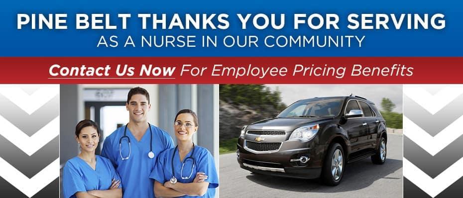 Chevy Discounts for NJ Nurses