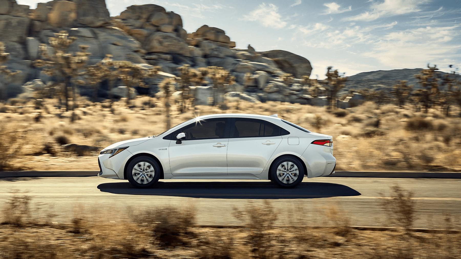 2020 Toyota Corolla on road