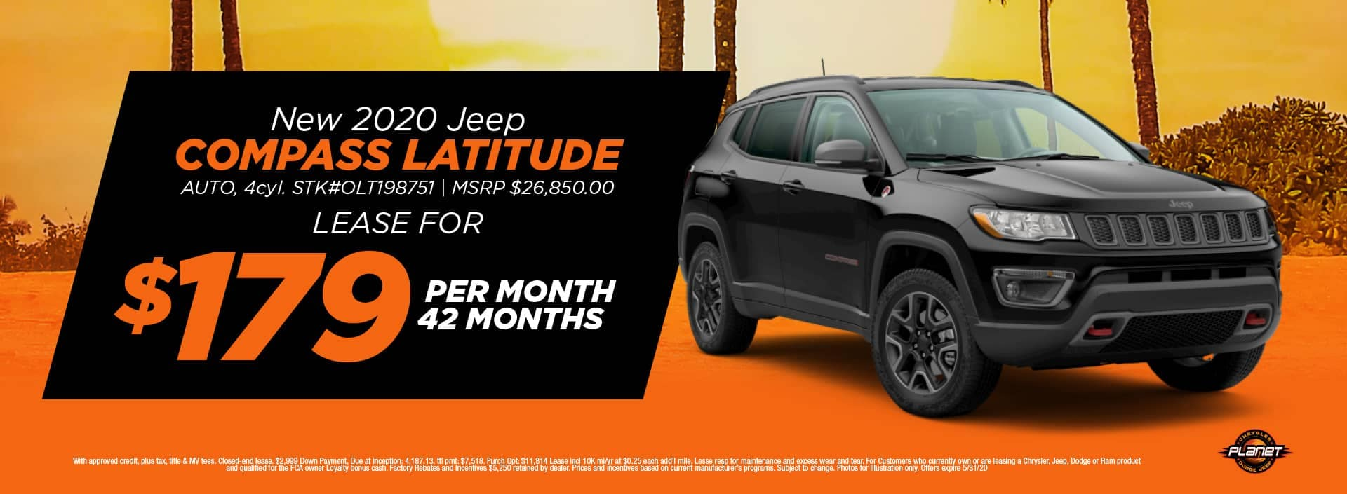 banner for 2020 Jeep Compass Latitude