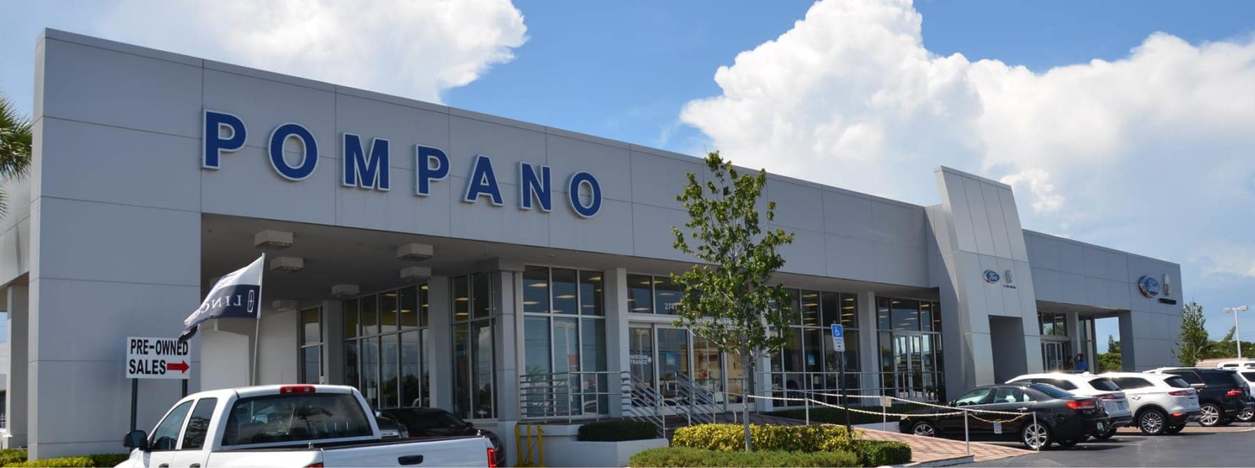 exterior view of Pompano Ford