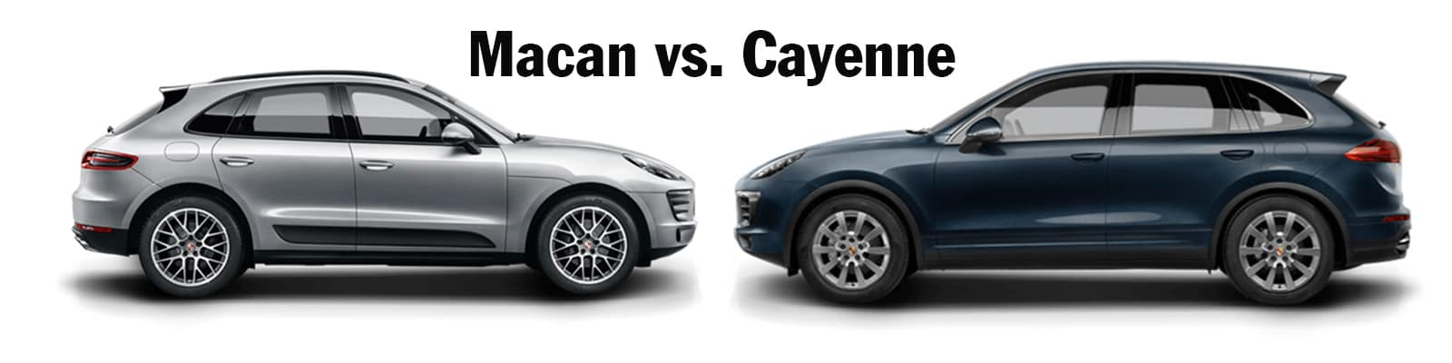 Macan Vs Cayenne Side By Side Comparison Porsche