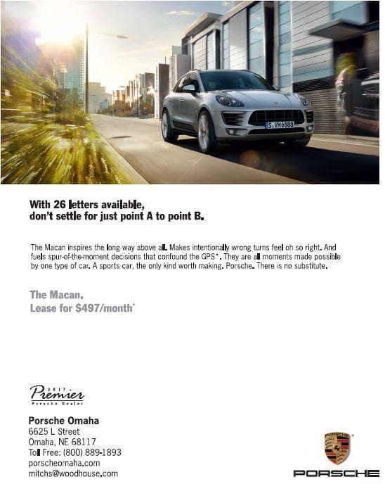 Lease a Porsche Macan