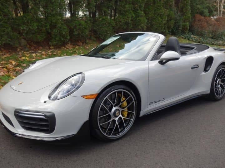 2018 Porsche 911 Turbo S Cab in Chalk