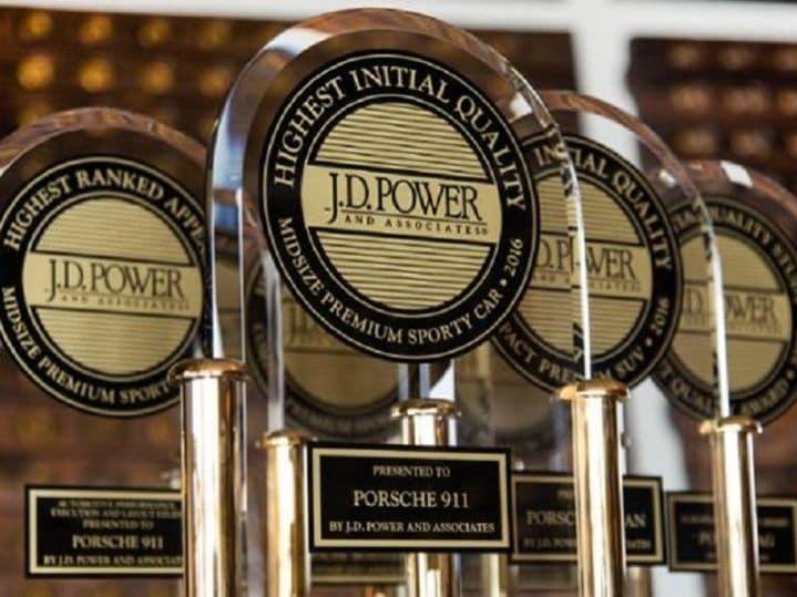 Porsche Wins J. D. Power Top Quality Awards