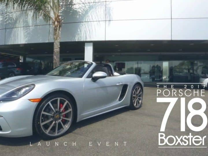 Launch Event 718 Boxster