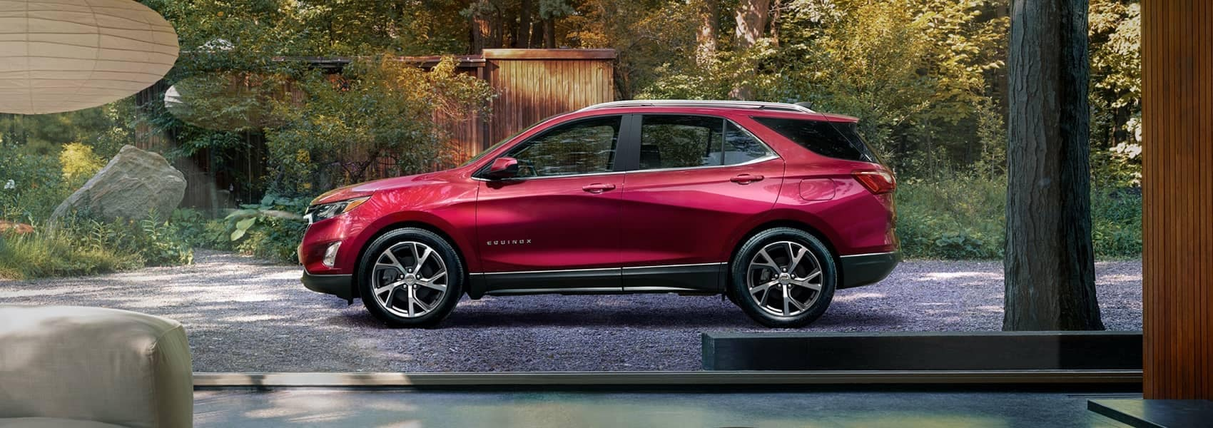 2021 Red Chevy Equinox Parked