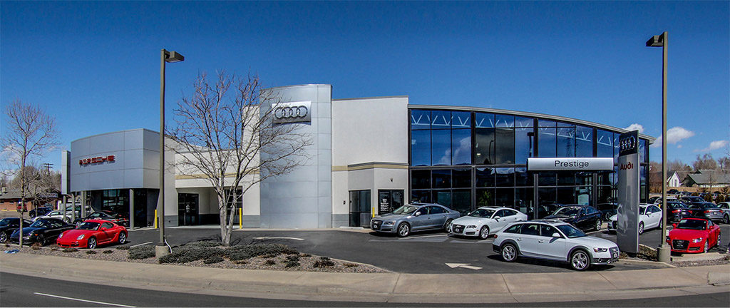 Prestige Imports Building Exterior - Driving Directions to Prestige Imports a Porsche & Audi Dealer near Denver, Lakewood, and Golden, CO