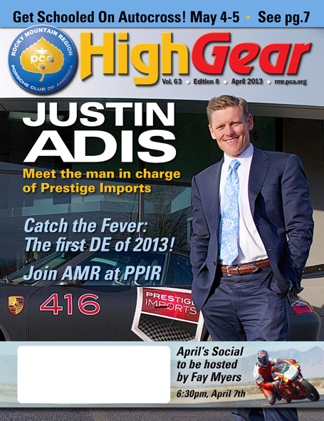 HighGear Magazine Cover featuring the Justin Adis interview