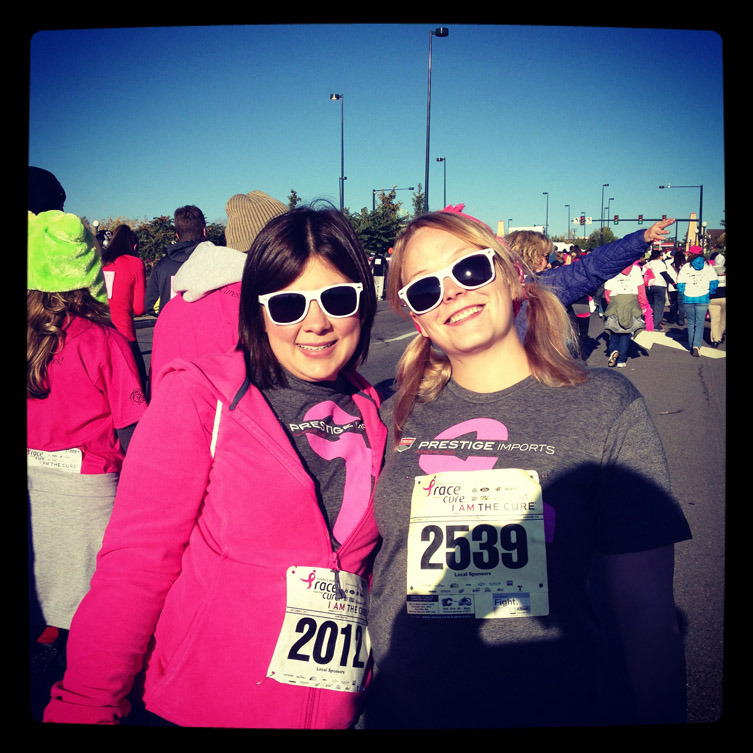 Heather Pridemore and Jackie Neal at the 2012 Race For The Cure