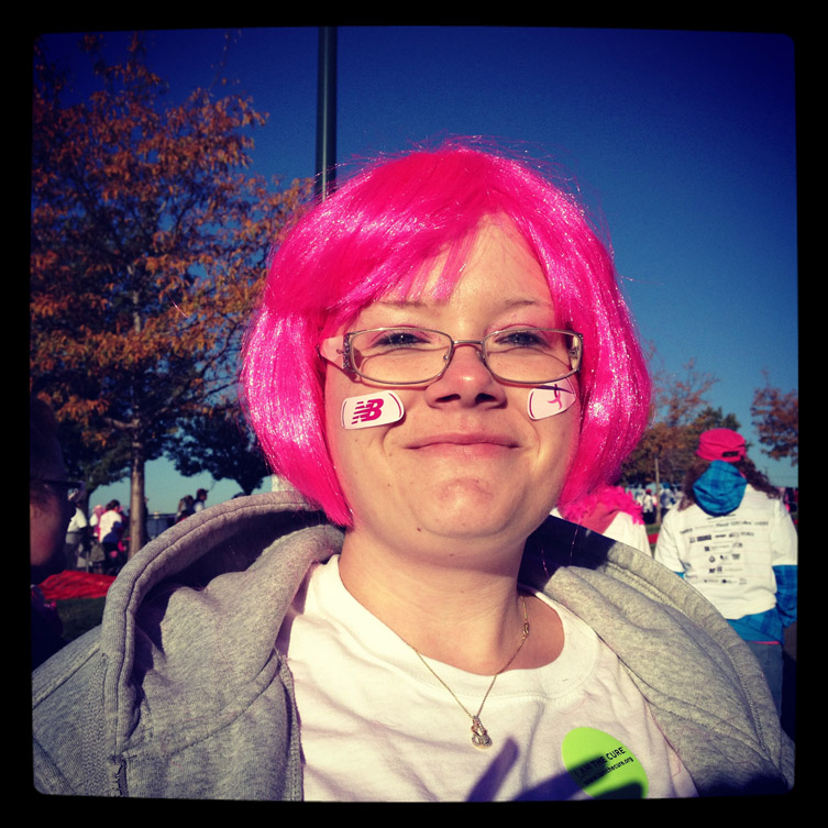 Kimberly Landers at the 2012 Race For The Cure