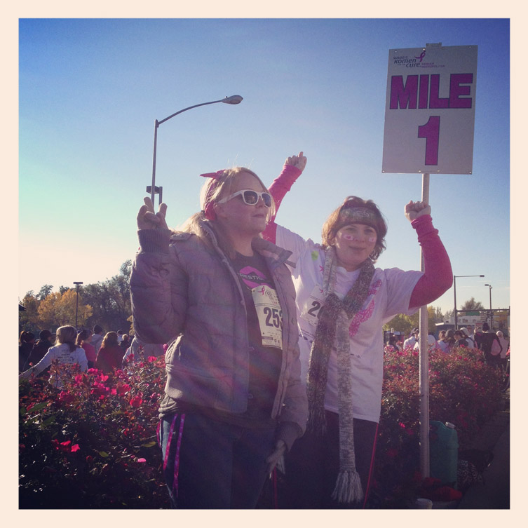 Mile marker 1 of the 2012 Race For The Cure