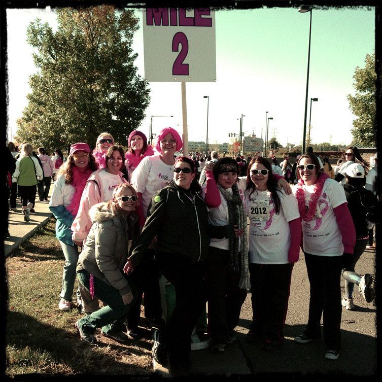 Mile marker 2 of the 2012 Race For The Cure