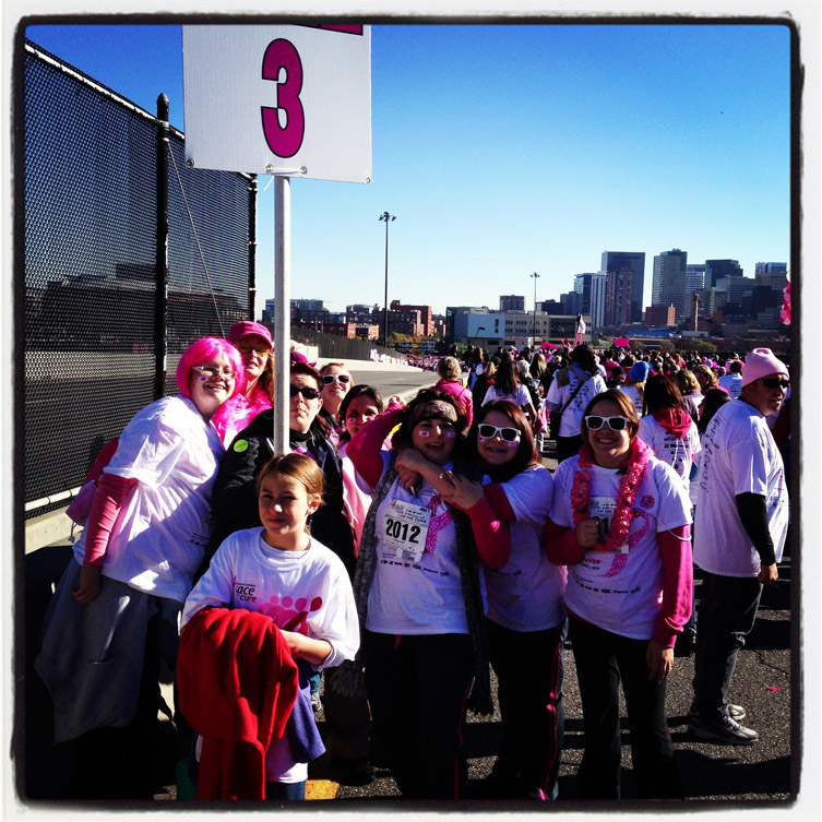 Mile marker 3 of the 2012 Race For The Cure