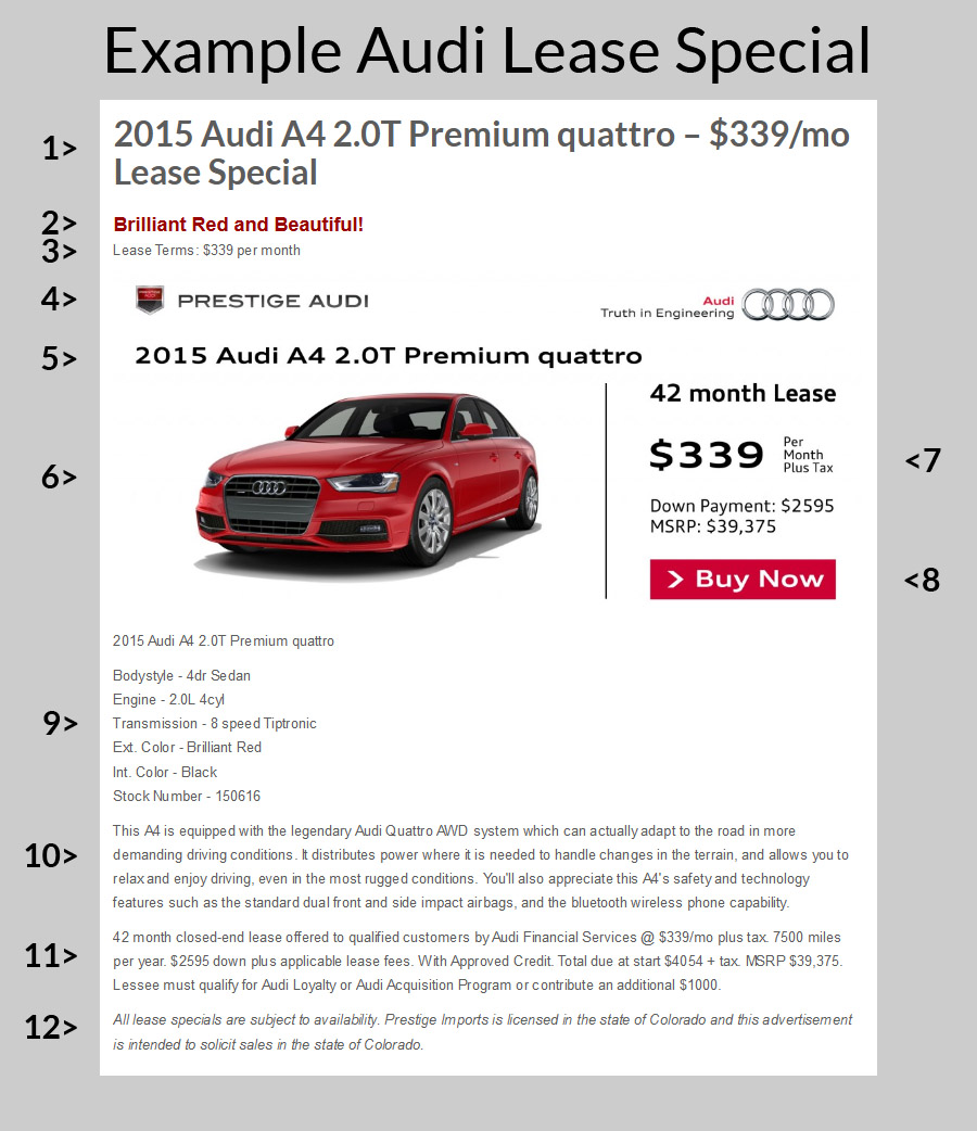 Audi Lease Specials Making An Informed Decision - Audi loyalty