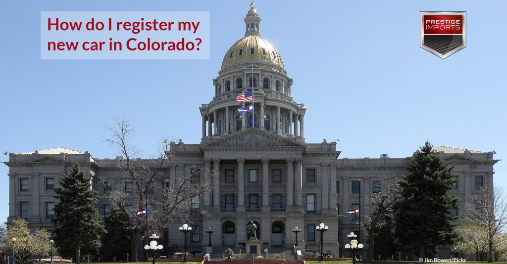 "Photo of the Colorado State Capitol - Used to illustrate the article ""How do I register my new car in Colorado?"""