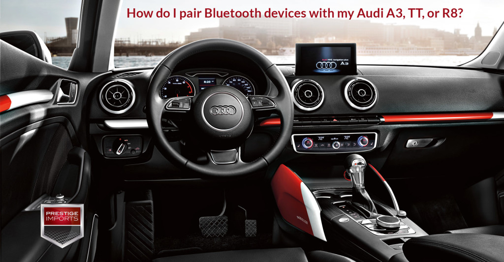 """Photo of the cockpit of the new Audi A3. Used to illustrate the article """"How do I pair Bluetooth devices with my Audi A3, TT, or R8?"""""""