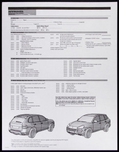 Porsche Approved Certified Pre-Owned Vehicles Inspection Checklist - Page 1
