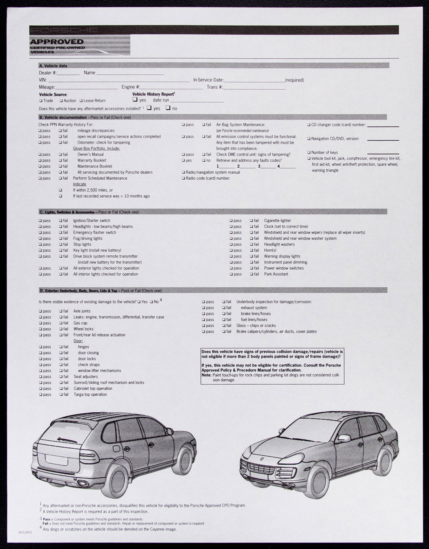 used vehicle inspection checklist pdf